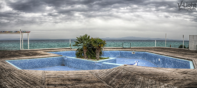 An abandoned pool after the end of the summer season in Greece | 2012