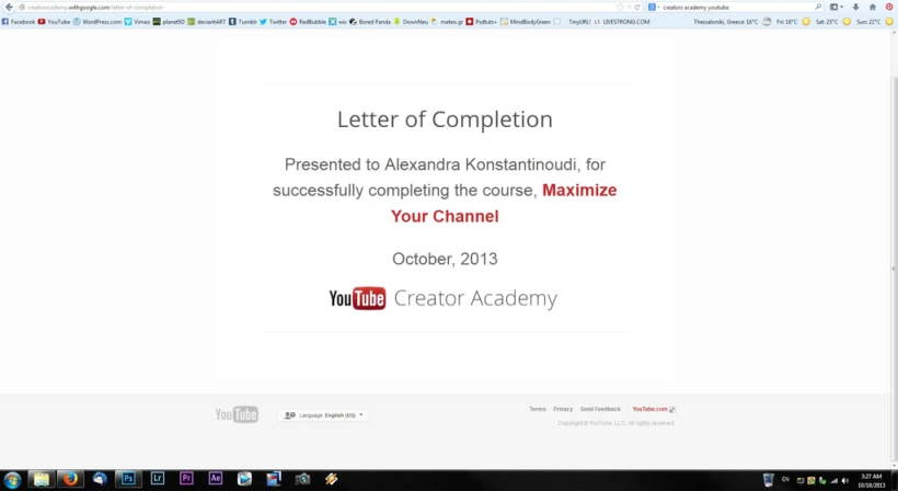 letter of completion