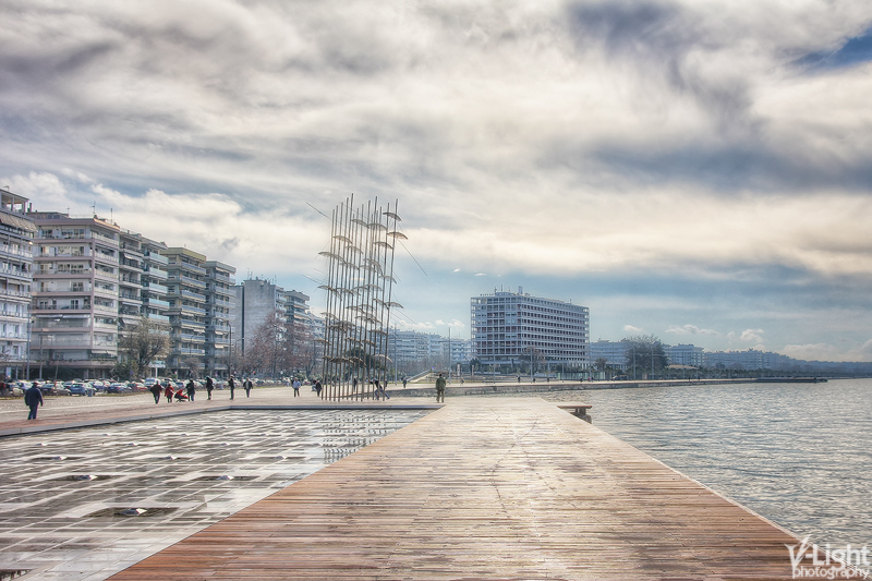Thessaloniki waterfront by V-Light