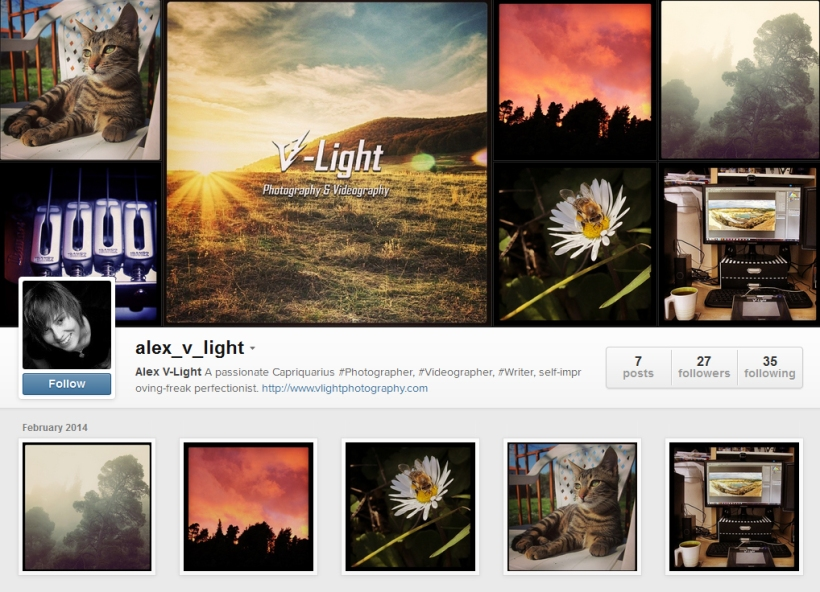 v-light on instagram