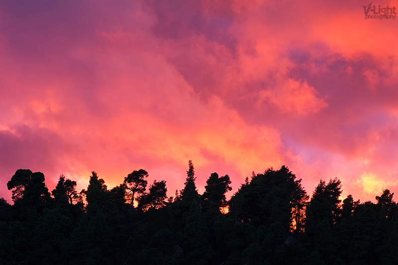 Fire in the sky by V-Light