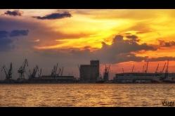 Sunset at Thessaloniki port   20.06.2014